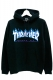 THRASHER TH95130 FLAME MAG LOGO HOOD BLK/WHT