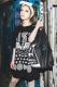 LiST 羽クロスT-shirt BLK/WHT
