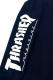 THRASHER TH93201-S WING SKULL FLAG POCKET L/S TEE NAVY/WHITE