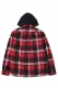 RUDIE'S BRILLIANT CHECK HOOD SHIRTS RED