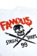 FAMOUS STARS AND STRAPS STICK IT LONG SLEEVE TEE WHITE