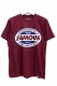 FAMOUS STARS AND STRAPS RACEWAY TEE BURGUNDY