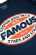 FAMOUS STARS AND STRAPS RACEWAY TEE NAVY