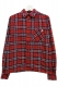 NineMicrophones CHECK SHIRT L/S-9MC Crew- RED