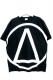 DΔRK Triangle T-Shirt - Black / White