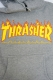 THRASHER TH95130 FLAME 3C HOODIE GRY/YEL