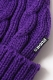RUDIE'S HEAD GEAR WASTE CABLE KNITCAP PURPLE