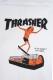 THRASHER TH9605 NECKFACE ZIP HOODIE WHT