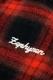 Zephyren (ゼファレン) BANDANA CHECK SHIRT L/S -Inhale the black- RED
