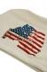 Civil Regime 17CV-AW006H OUR FLAG HOODIE NTURAL