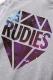 RUDIE'S BRILLIANT GALAXY ZIPHOOD SWEAT GRAY