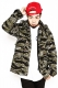 RUDIE'S SKULL MILITARY JACKET GREEN CAMO
