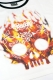 GoneR GR15LD001 Fire Mexican Skull Ringer T-Shirts White