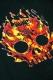 GoneR GR15ZP001 Fire Mexican Skull Zip Parka Black