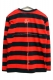 GoneR GR15LS003 Border Long T-Shirts Red