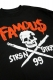 FAMOUS STARS AND STRAPS STICK IT LONG SLEEVE TEE BLACK