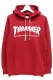 THRASHER TH8501FT MAG FRENCH TERRY HOODIE RED PEPPER