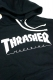 THRASHER TH8502LTE HOMETOWN EMB HOODIE BLACK/WHITE