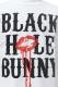 BLACK HOLE BUNNY Tシャツ Lip Logo WHT