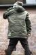 VIRGO Big square hoodie jkt Khaki