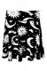 KILL STAR CLOTHING Cozmic Death Skater Skirt