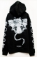 DEADHEARTZ growth devil ZIP Hoodie BLACK