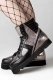DISTURBIA CLOTHING All-Seeing Hi-Tops Silver