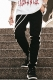 MUSIC SAVED MY LIFE (MSML)  JERSEY LINE TRACK PANTS BLACK