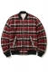 MUSIC SAVED MY LIFE (MSML)  REVERSIBLE BOMBER JKT RED CHECK-PINK